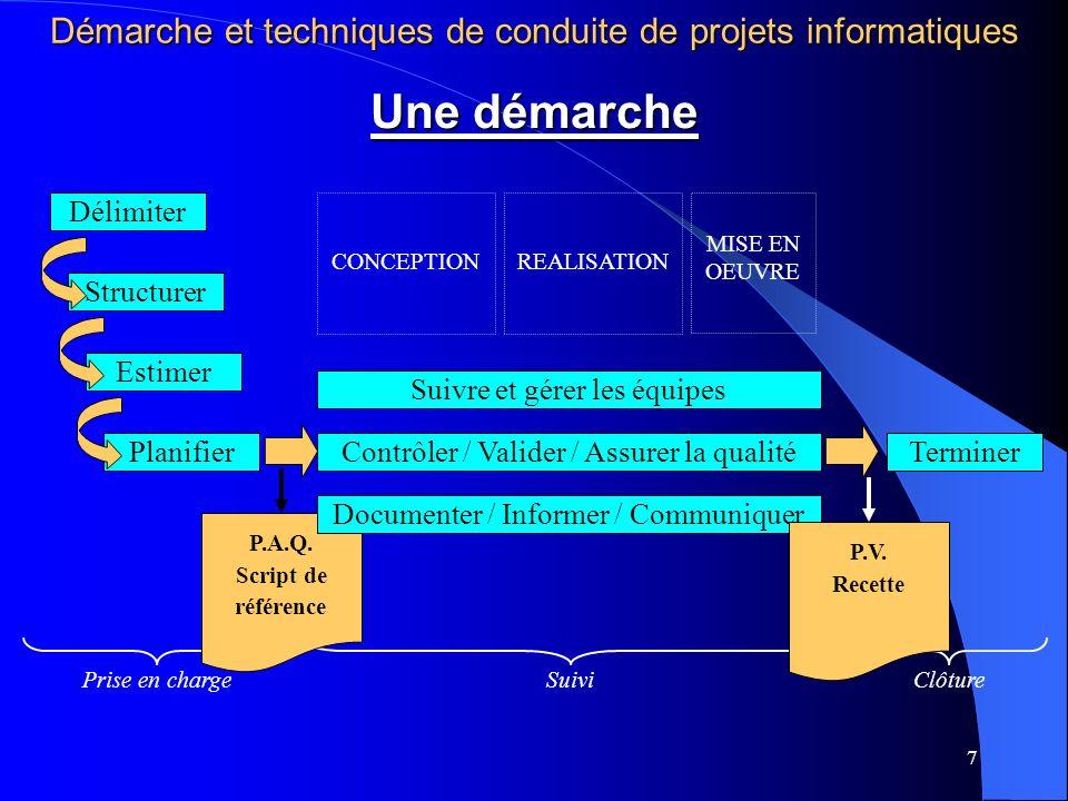 Démarche et techniques de conduite de projets informatiques