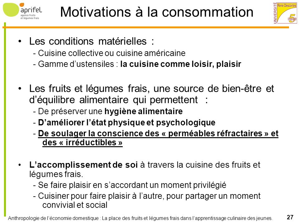Motivations à la consommation