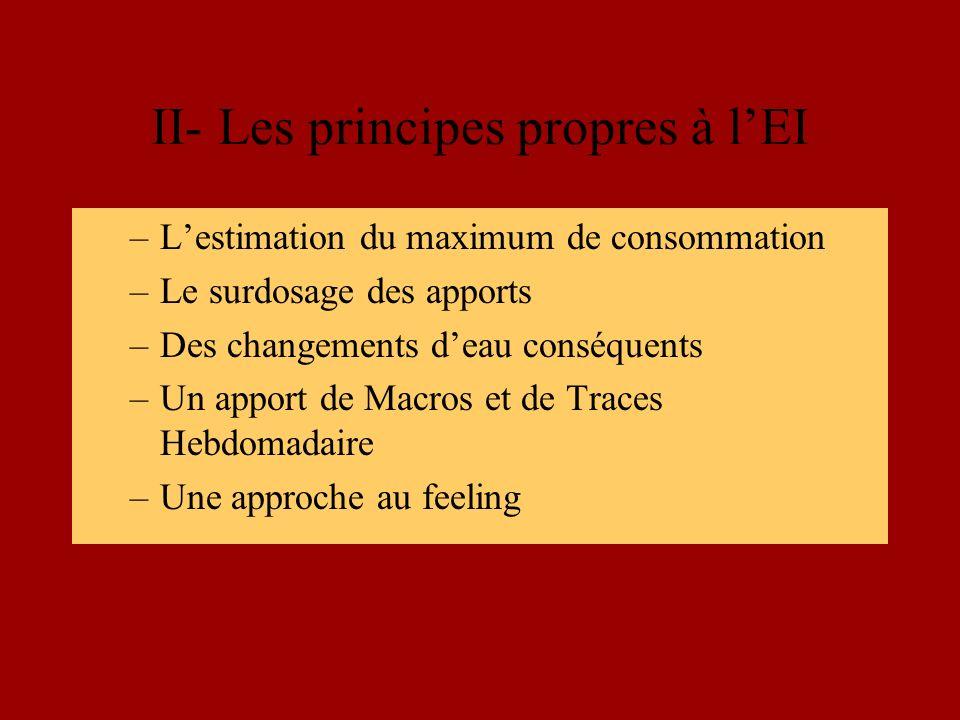 II- Les principes propres à l'EI