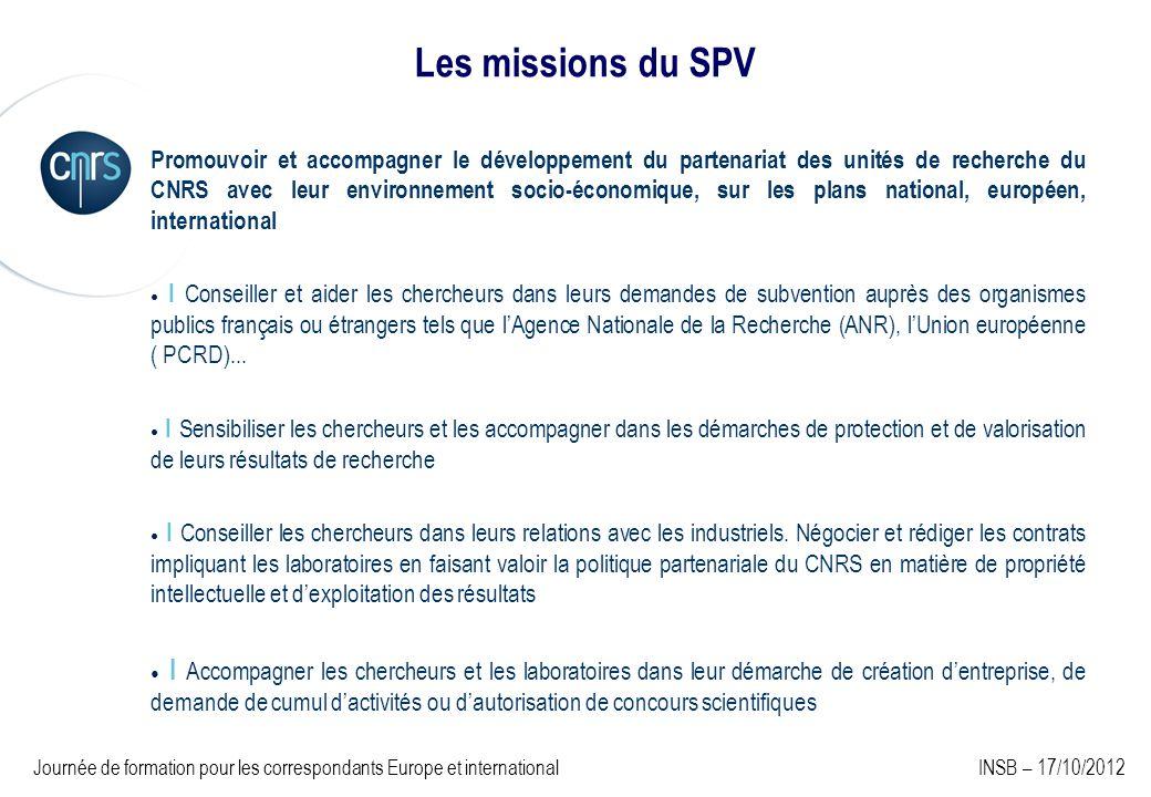 Les missions du SPV