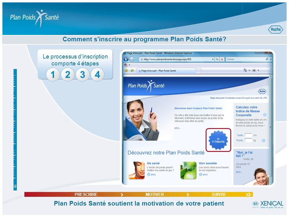 Comment s inscrire au programme Plan Poids Santé
