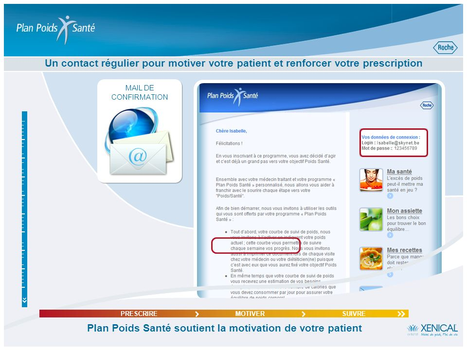 Plan Poids Santé soutient la motivation de votre patient