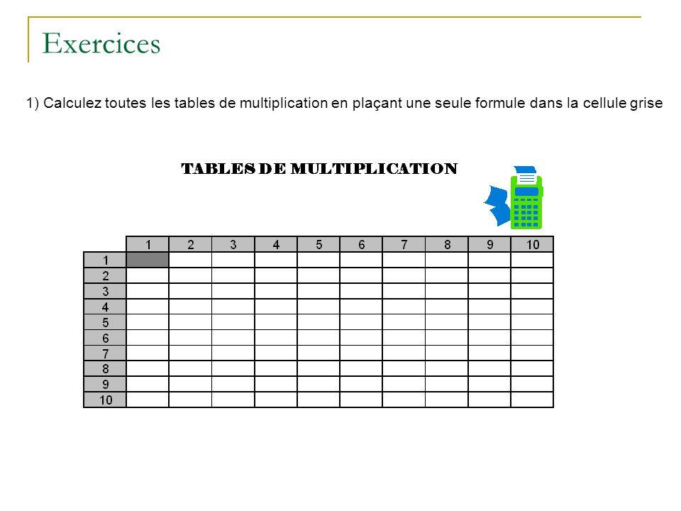 Excel techniques de base ppt t l charger - Toute les tables de multiplication de a ...