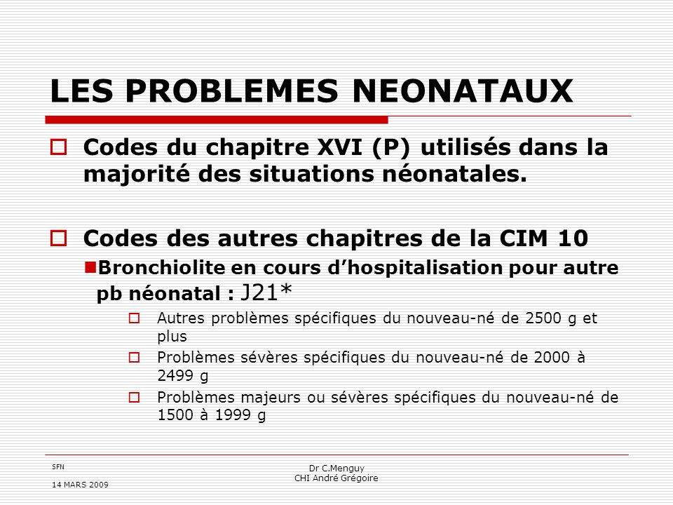 LES PROBLEMES NEONATAUX