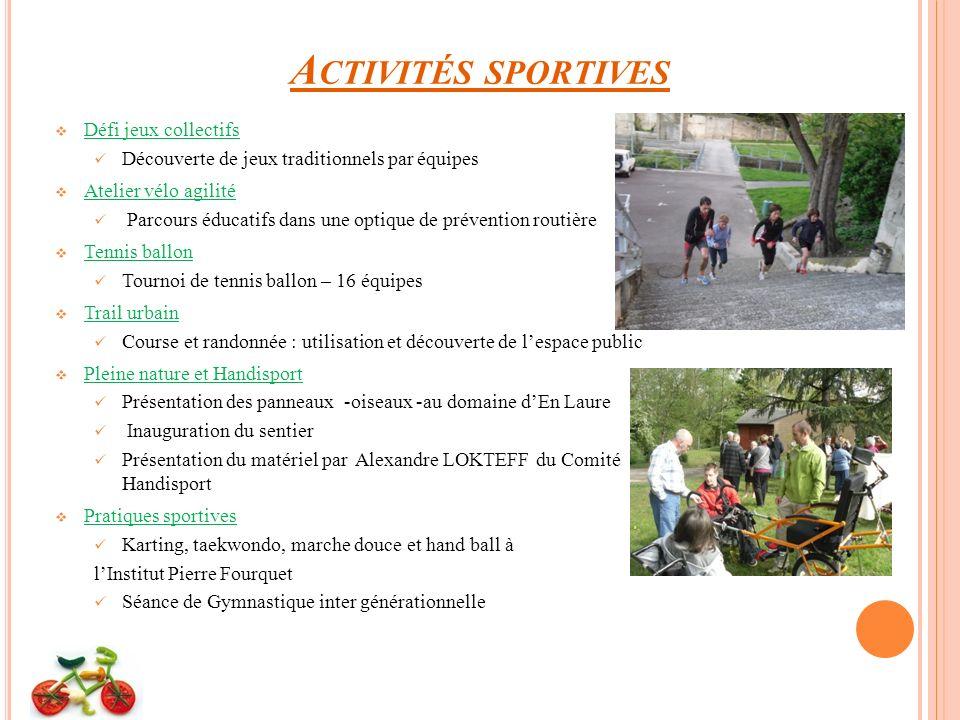 Activités sportives Défi jeux collectifs