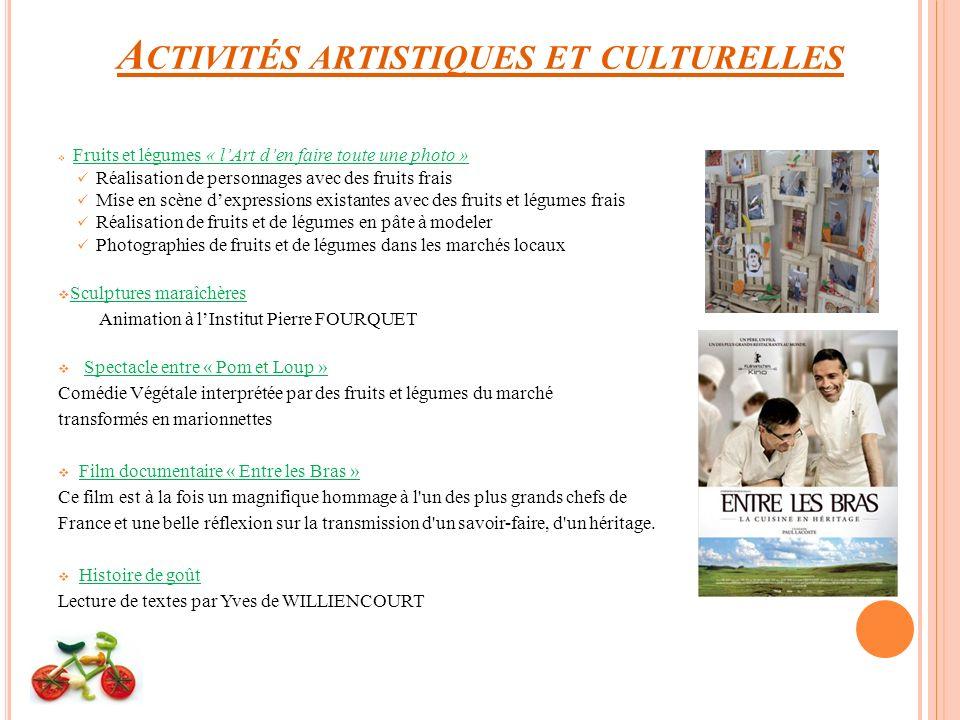 Activités artistiques et culturelles