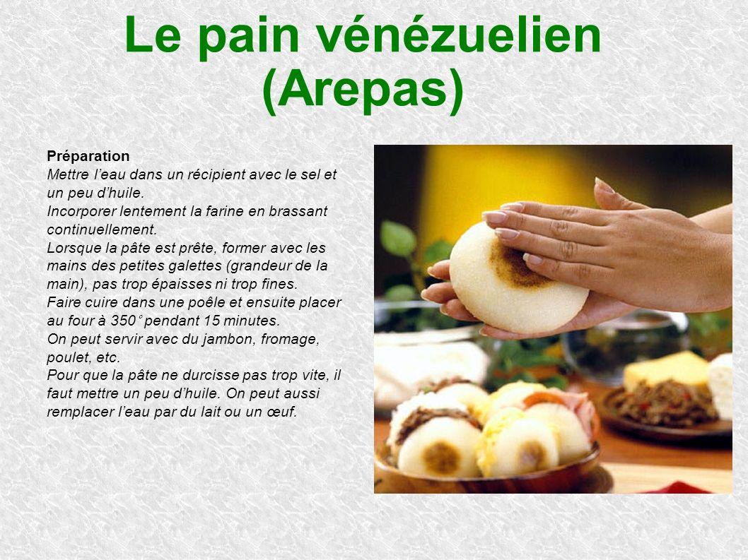 Le pain vénézuelien (Arepas)