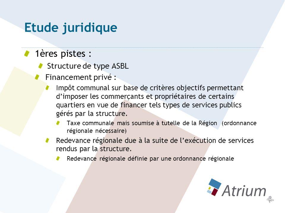 Etude juridique 1ères pistes : Structure de type ASBL