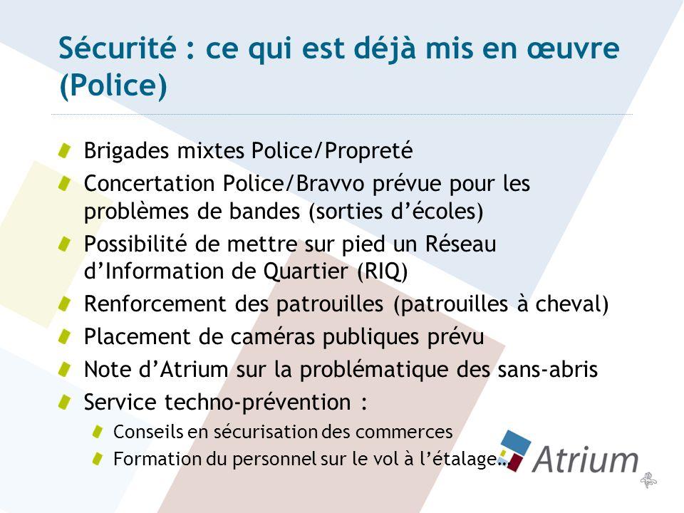 Sécurité : ce qui est déjà mis en œuvre (Police)
