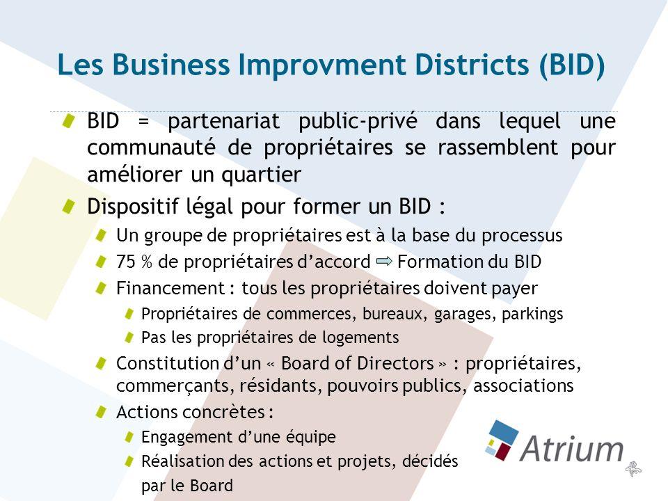 Les Business Improvment Districts (BID)