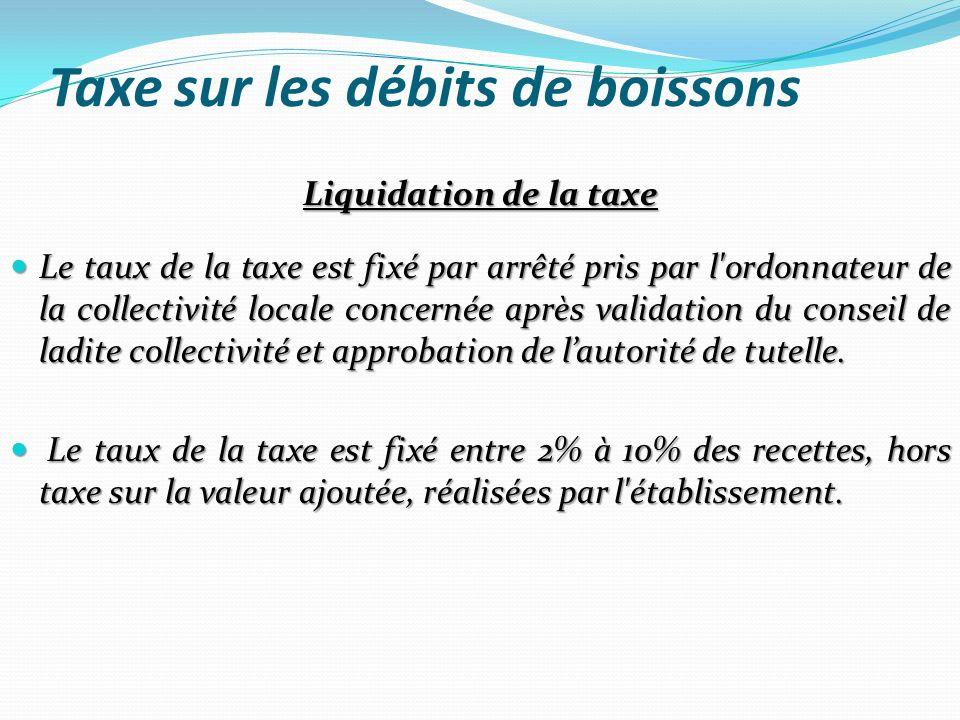 Taxe sur les débits de boissons