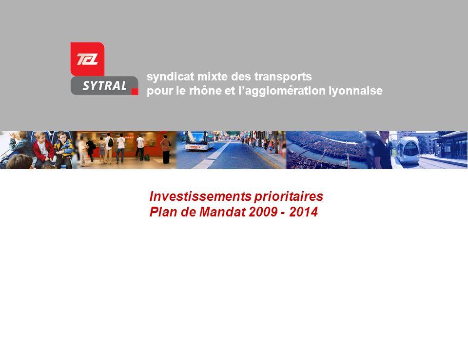 Investissements prioritaires Plan de Mandat 2009 - 2014