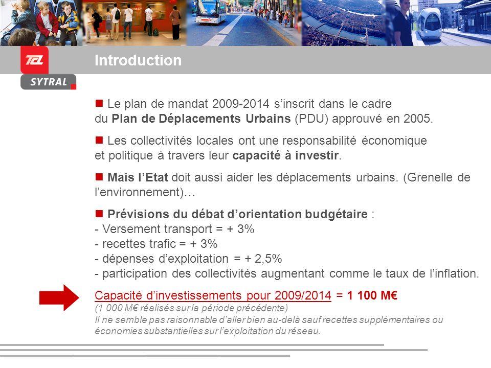 Introduction Le plan de mandat 2009-2014 s'inscrit dans le cadre du Plan de Déplacements Urbains (PDU) approuvé en 2005.