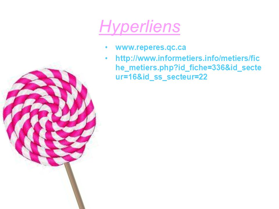 Hyperliens www.reperes.qc.ca