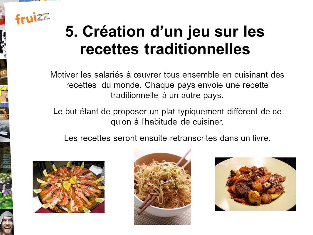 5. Création d'un jeu sur les recettes traditionnelles