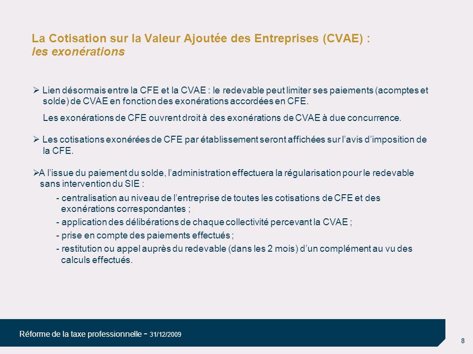 La Cotisation sur la Valeur Ajoutée des Entreprises (CVAE) : les exonérations