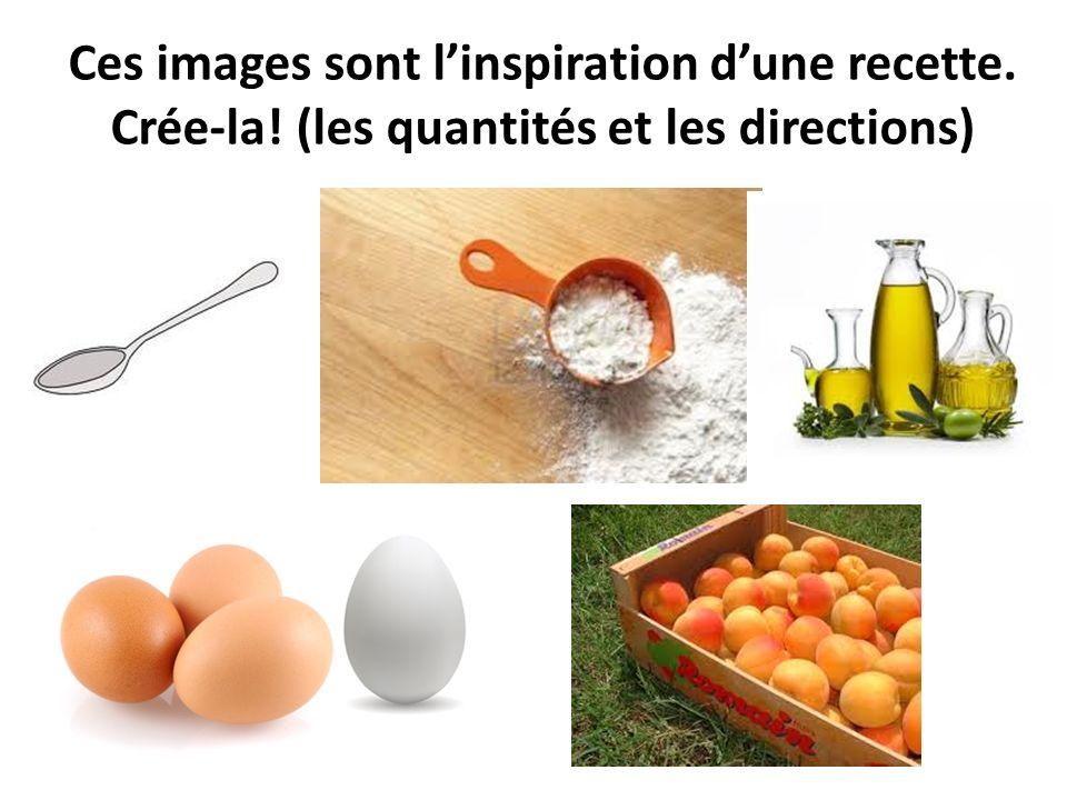 Ces images sont l'inspiration d'une recette. Crée-la