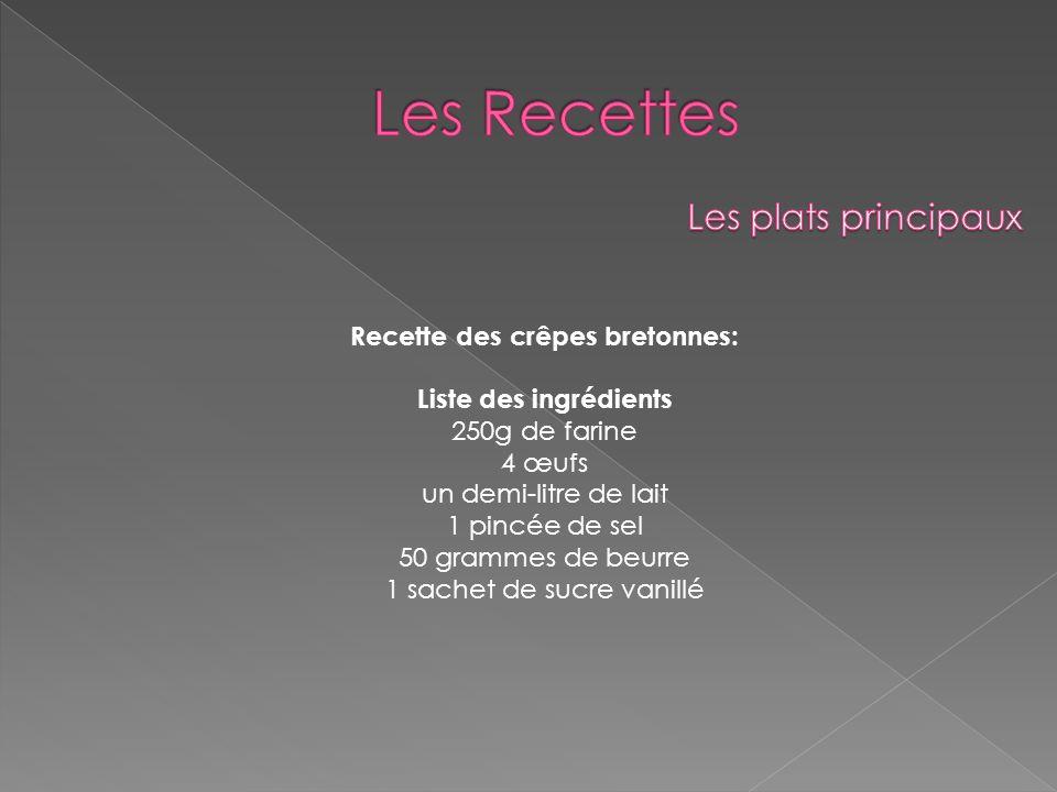 Recette des crêpes bretonnes: