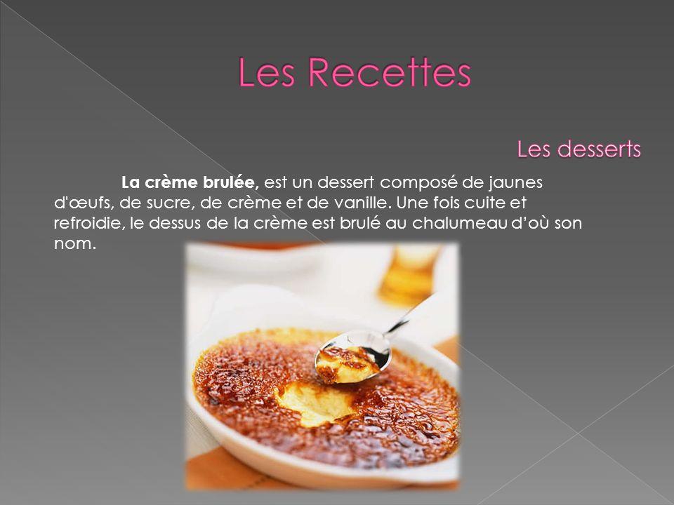 Les Recettes Les desserts