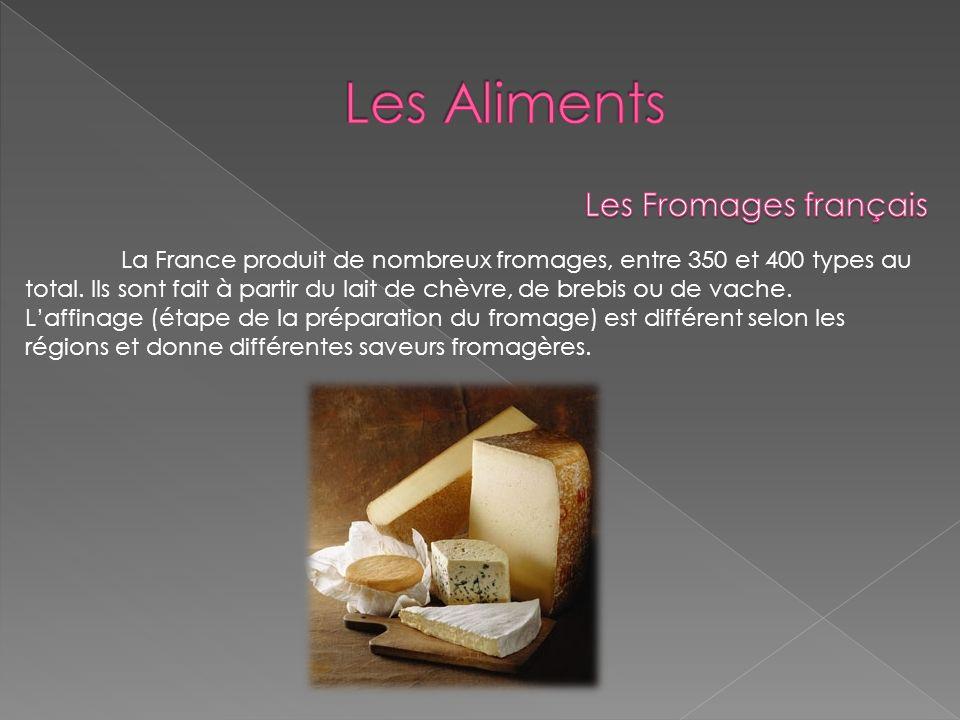 Les Aliments Les Fromages français