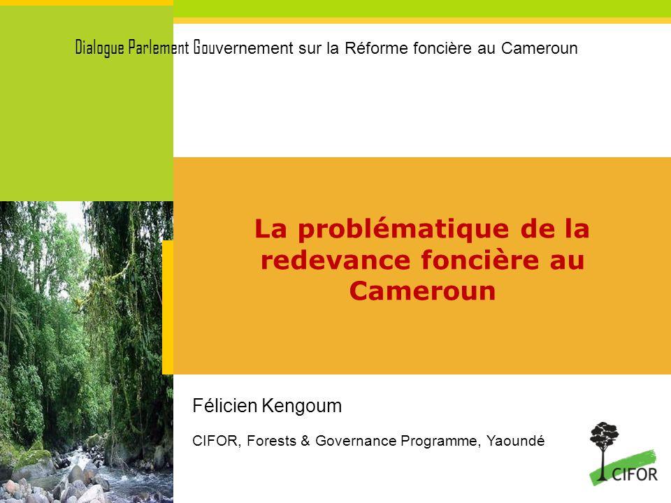 La problématique de la redevance foncière au Cameroun