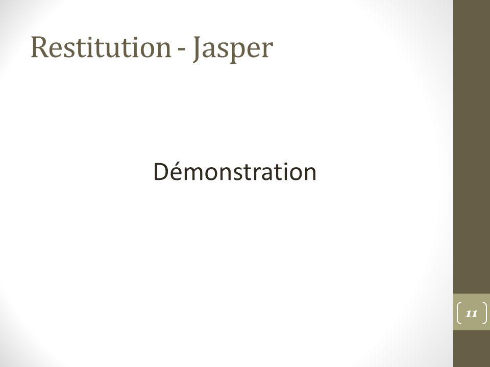 Restitution - Jasper Démonstration