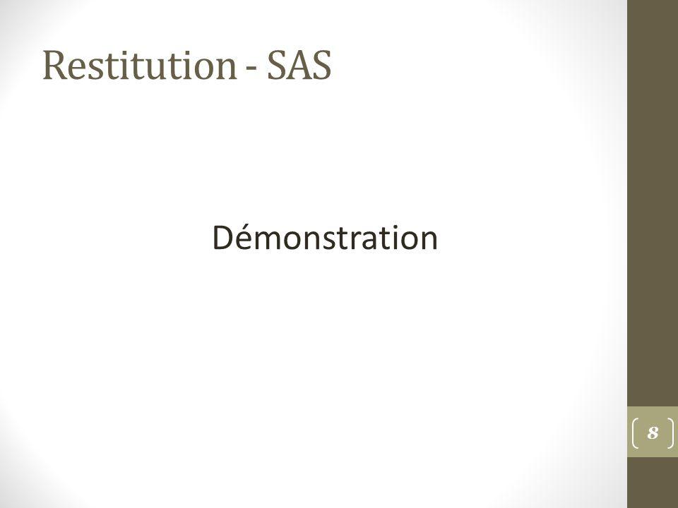 Restitution - SAS Démonstration