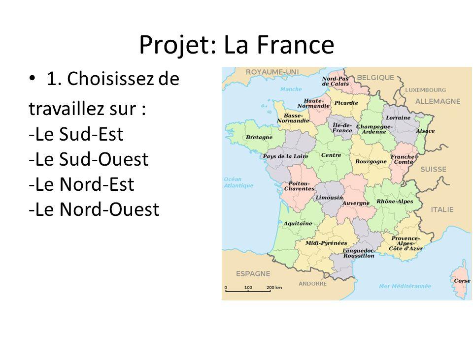Projet: La France 1. Choisissez de