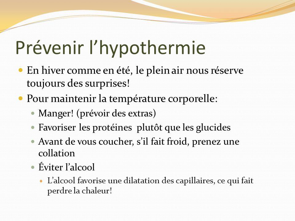Prévenir l'hypothermie