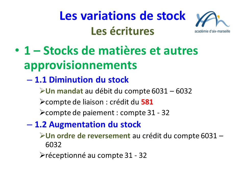 reversement tva stock