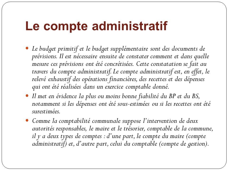 Le compte administratif