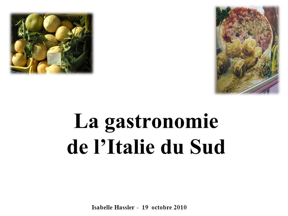La gastronomie de l'Italie du Sud