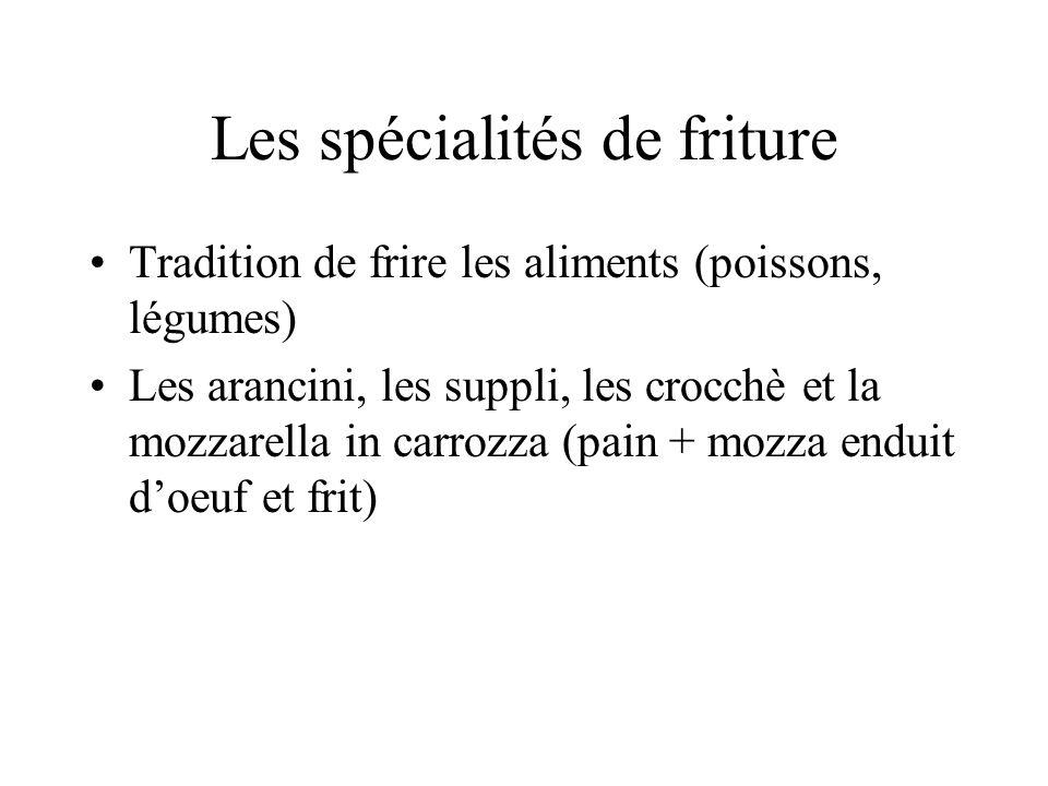 Les spécialités de friture