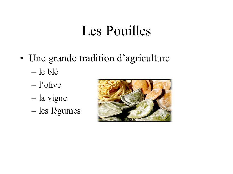 Les Pouilles Une grande tradition d'agriculture le blé l'olive