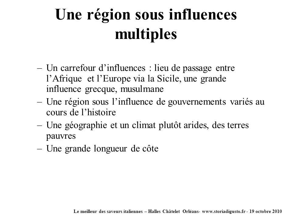 Une région sous influences multiples