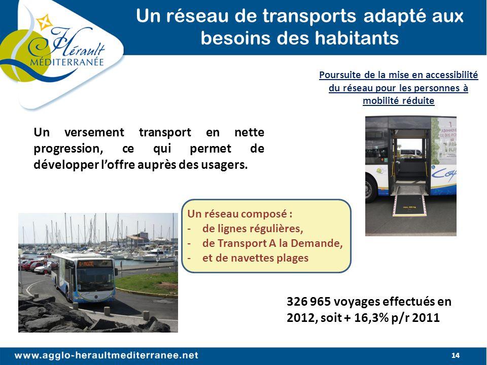 Un réseau de transports adapté aux besoins des habitants