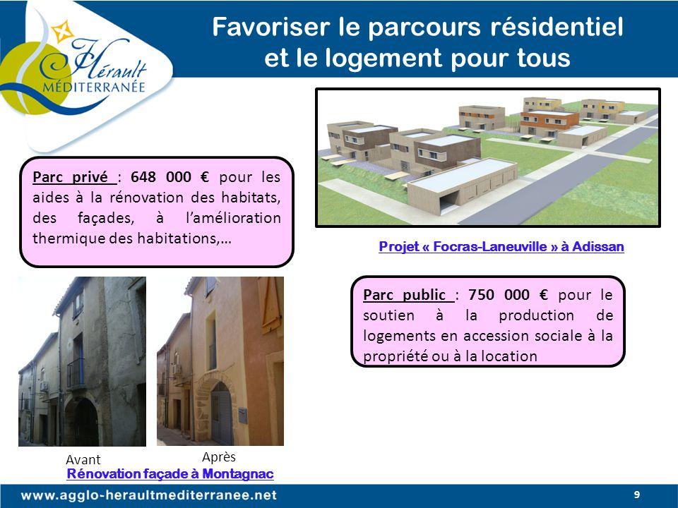 Projet « Focras-Laneuville » à Adissan Rénovation façade à Montagnac