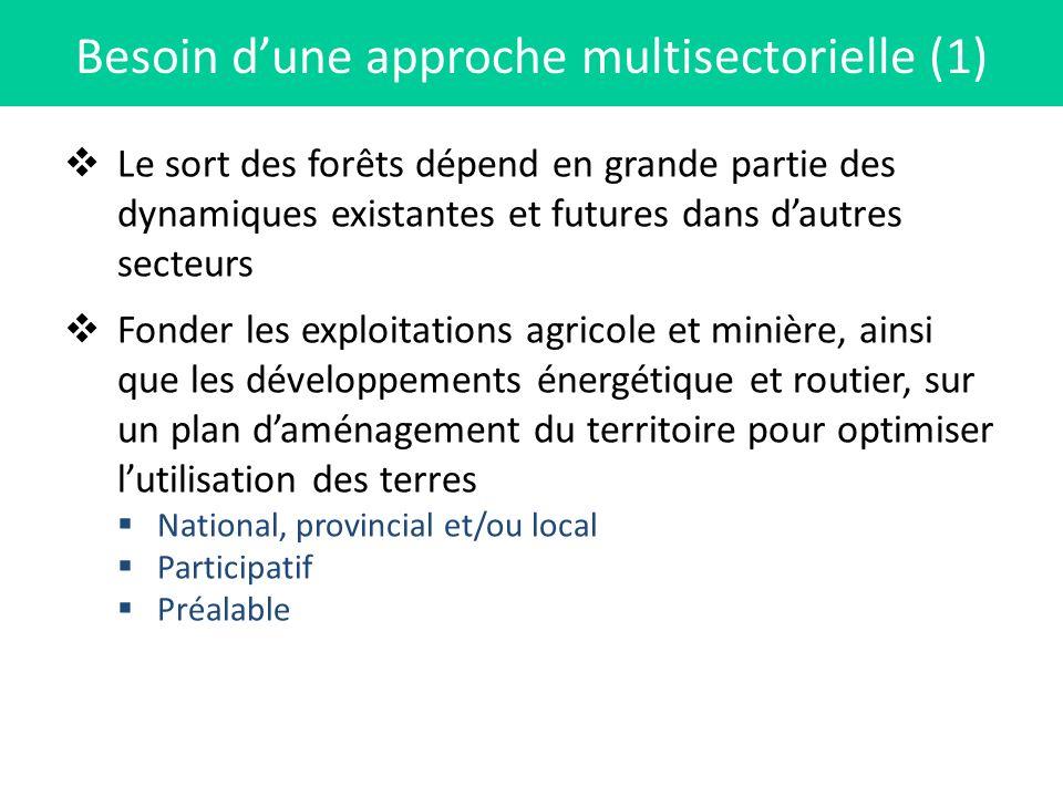 Besoin d'une approche multisectorielle (1)