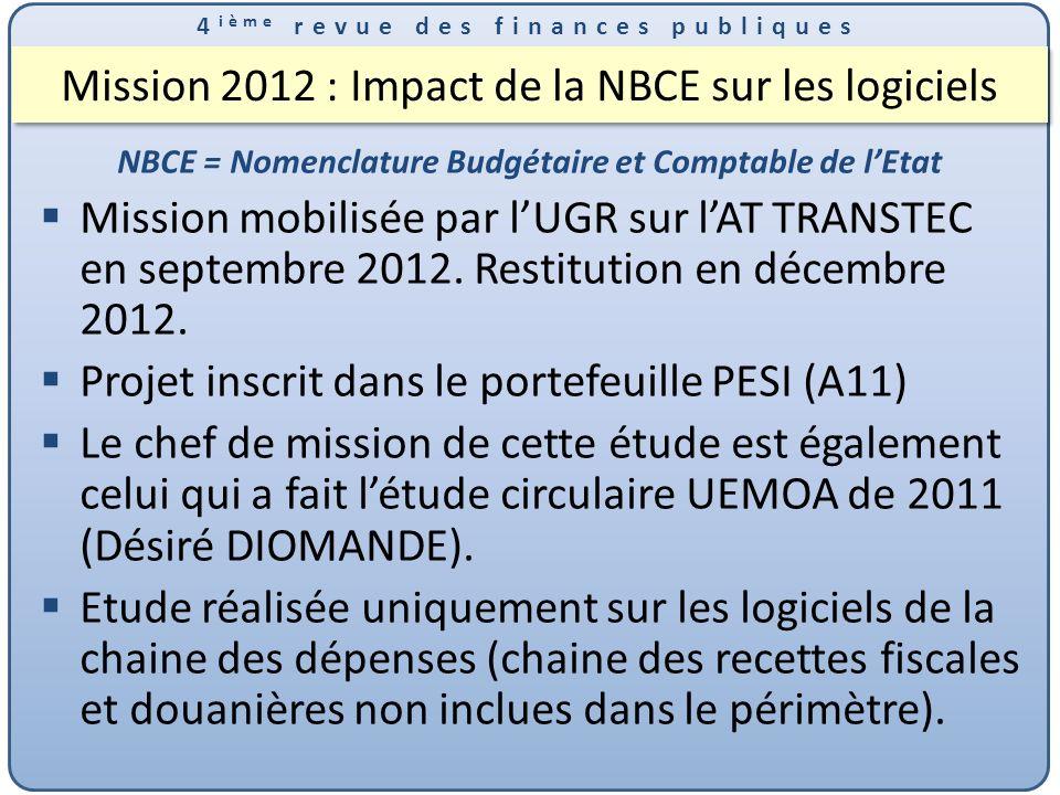 Mission 2012 : Impact de la NBCE sur les logiciels