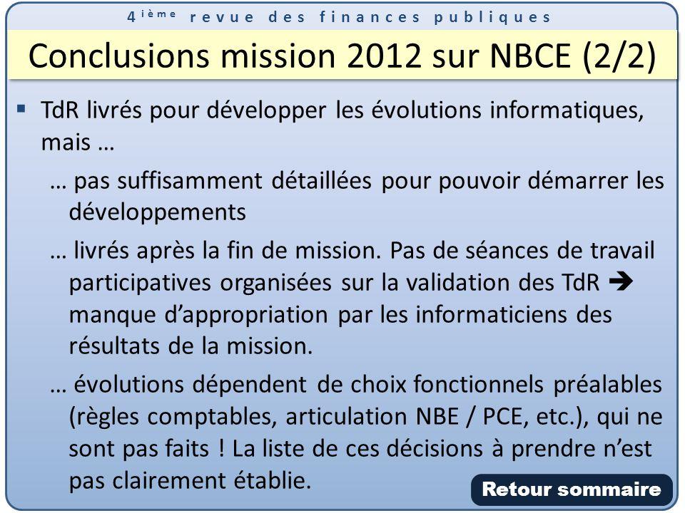 Conclusions mission 2012 sur NBCE (2/2)
