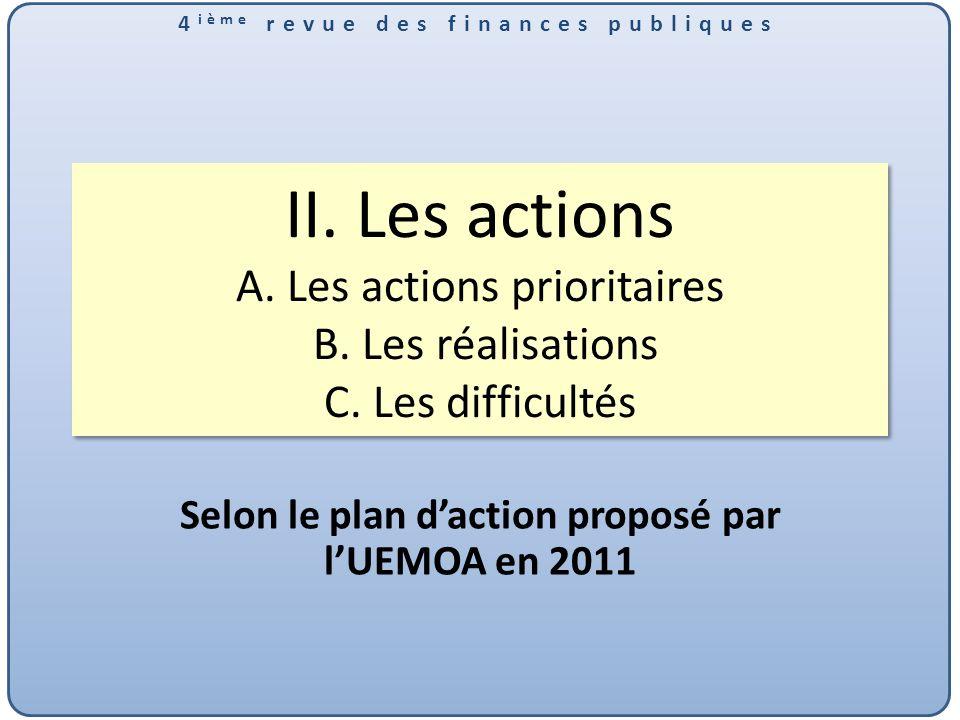 Selon le plan d'action proposé par l'UEMOA en 2011
