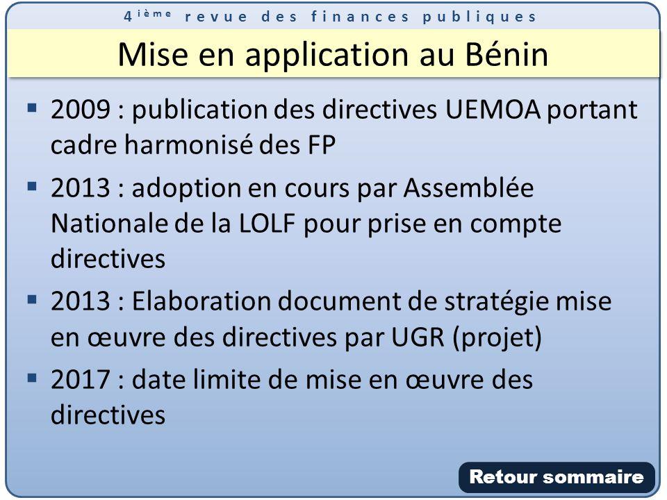 Mise en application au Bénin