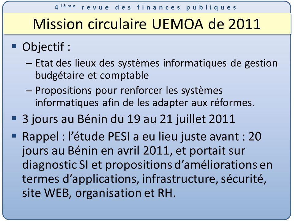 Mission circulaire UEMOA de 2011