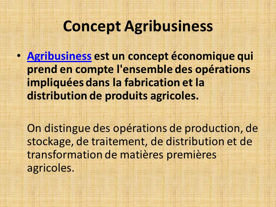 Concept Agribusiness