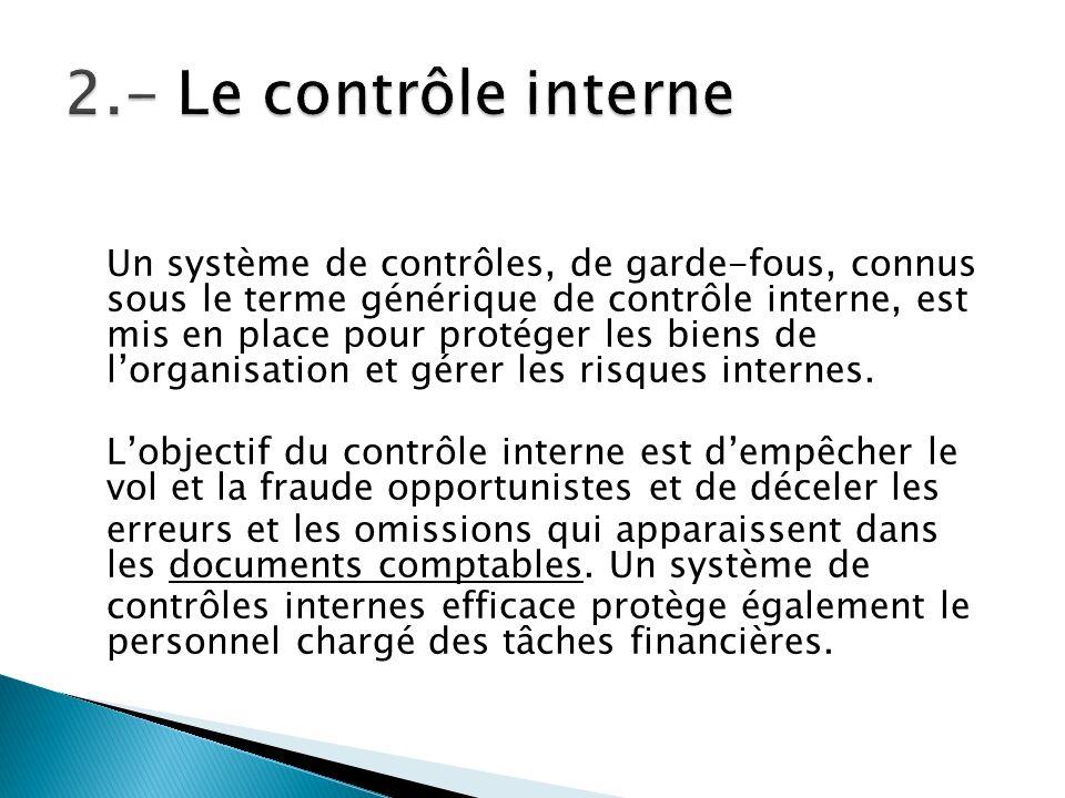 2.- Le contrôle interne