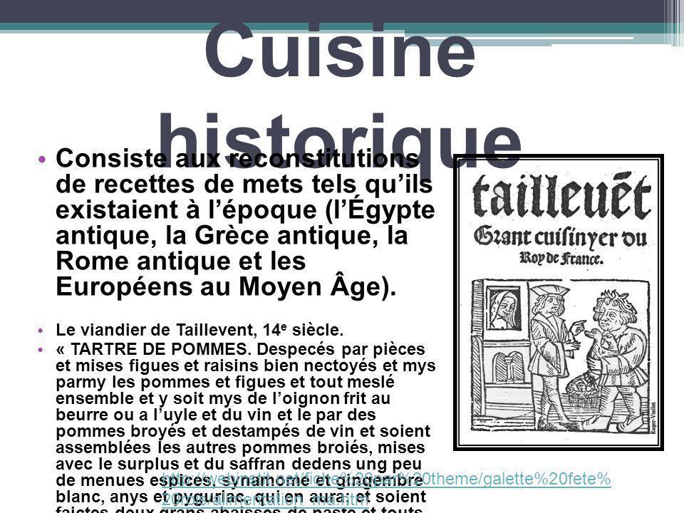 Cuisine historique