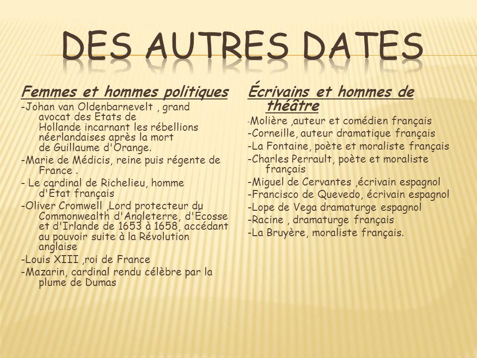 Des autres dates Femmes et hommes politiques