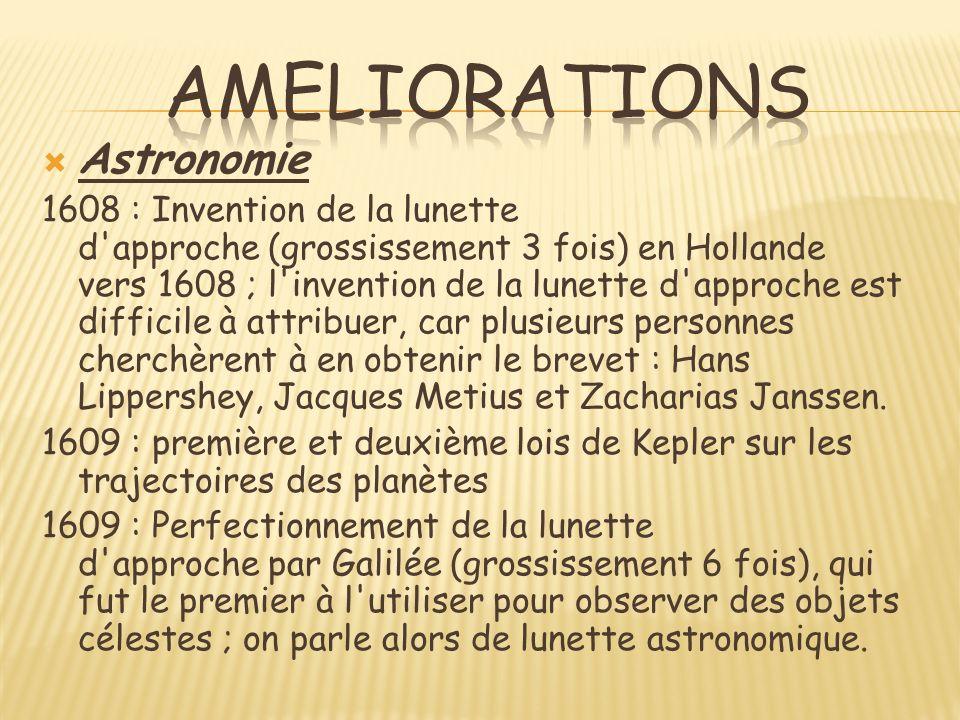 Ameliorations Astronomie