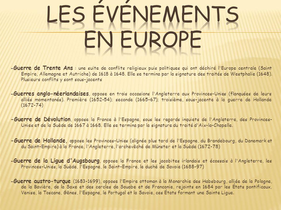 LES Événements EN EUROPE