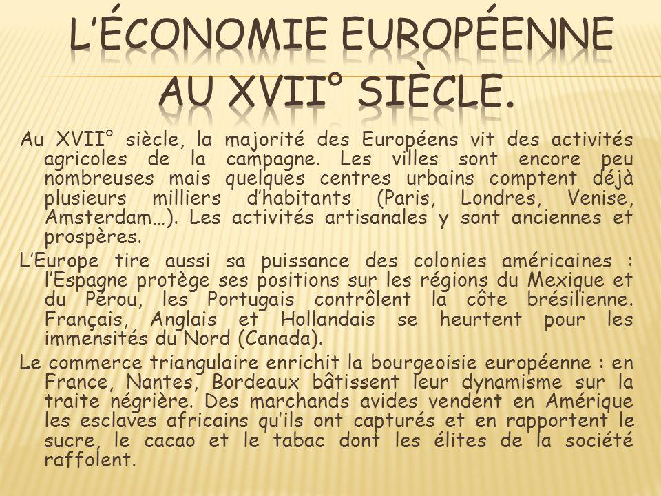 L'économie européenne au XVII° siècle.